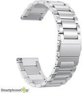 Metaal schakel bandje Zilver geschikt voor Fitbit Versa