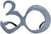30 jaar bril met glitters - Verkleedattribuut