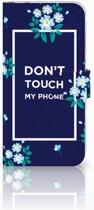Huawei P20 Pro Boekhoesje Flowers Blue DTMP