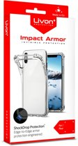 Livon Apple iPhone X/iPhone XS Impact Armor - Extra Sterke Hoeken & Transparant - Shock Proof