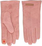 Touchscreen handschoenen roze suede voor dames - Smartphone handschoenen - Mobiele telefoon gadgets