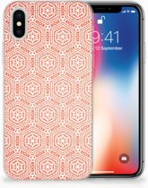 Apple iPhone X | Xs Uniek TPU Hoesje Pattern Orange