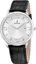 Festina F6806/1 Klassiek - Horloge - Staal - Zilverkleurig - Ø 40 mm