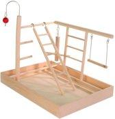 Trixie Speelplaats Hout Voor Kanarie En Parkiet - 35X25X27 CM
