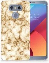 LG G6 Uniek TPU Hoesje Marmer Goud