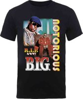 Biggie Smalls - RIP Collage heren unisex T-shirt zwart - L
