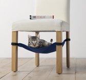 Kattenhangmat -hangmat - kat voor onder de stoel -  blauw