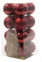 Kerstboom decoratie ballen donker rood 16 delig