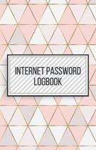 Internet Password Logbook-Small Size Alphabetical Password Notebook Organizer-5.5''x8.5'' 120 pages Book 8: Keep Track of Usernames Passwords Websites-B