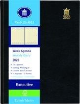 Ryam Executive Agenda 2020 - 6-Talig - Zwart - 17x22 cm - Crèmekleurig papier