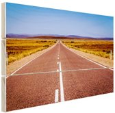 Weg Australie  Hout 160x120 cm - Foto print op Hout (Wanddecoratie) XXL / Groot formaat!