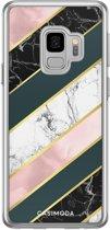 Samsung Galaxy S9 siliconen hoesje - Marble stripes