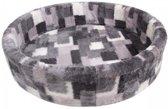 Petcomfort katten/hondenmand bont lapjesdeken grijs 95x84x22 cm