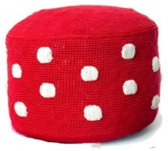 Anne-Claire Petit Dots Poef rood