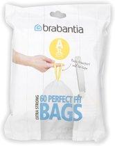 Brabantia Perfect Fit Afvalzakken - 3 l - Code A - 60 stuks