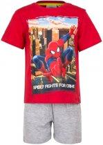 Spiderman korte pyjama jongens rood 98