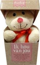 Berelief ik hou van jou Beertje in doosje