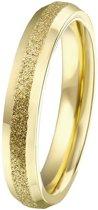 Lucardi - Stalen ring goldplated gediamanteerd
