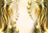 Fotobehang Pattern Spheres Abstract   XXXL - 416cm x 254cm   130g/m2 Vlies