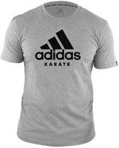adidas T-Shirt Karate Community Grijs/Zwart Extra Small