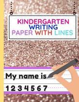 Kindergarten Writing Paper With Lines