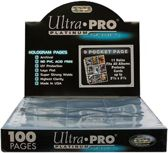 Ultra PRO Pages Platinum 9 Pocket - 11 hole - 100 Pages