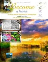 Art Book, Painting and Grayscale Coloring Book. Become a Painter. Vol 1, Nature Is Beautiful. Book Ac, Pics