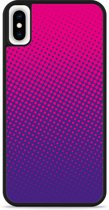 iPhone Xs Max Hardcase hoesje roze paarse cirkels