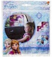 Disney Frozen auto-zonnescherm met 2 zuignappen, opvouwbaar, Anna en Elsa kinder zonnescherm voor autoraam