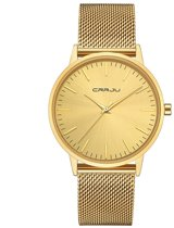 CRRJU Unisex Horloge Kast: Goud Band: Messing 40mm