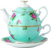 Royal Albert Theekan - Polka Blue Tea For One