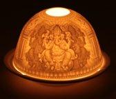 Sfeerlicht porselein Ganesha - 11.5x7.8 cm