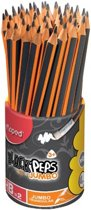 Maped Black'Peps potlood Jumbo HB met gumtip koker met 46 stuks