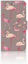 Huawei Y6 2018 Uniek Boekhoesje Flamingo