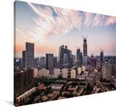 Skyline van Beijing Canvas 90x60 cm - Foto print op Canvas schilderij (Wanddecoratie woonkamer / slaapkamer)