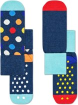 Happy Socks 2-Pack Antislip, Big Dot, 2-3 jaar, Maat 24-26