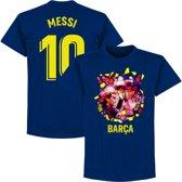 Barcelona Messi 10 Gaudi Foto T-Shirt - Navy - S