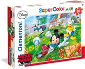 Clementoni Supercolor Maxi puzzel Disney Mickey Mouse and friends voetbal - 24 grote stukjes