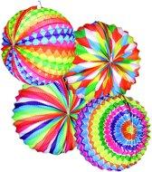 Veelkleurige ronde lantaarn - Feestdecoratievoorwerp
