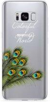 Galaxy S8 plus Hoesje Peacock World