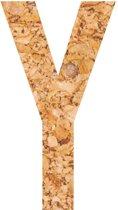 Kleefletter - plakletter - prikbord - kurk - vegan - letter Y - 10 cm hoog