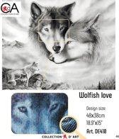 DIAMOND PAINTING WOLFISH LOVE 48X38CM