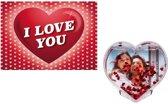 Valentijn - Valentijnskaart met 3D hart fotolijstje - Valentijnsdag cadeaus