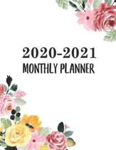 2020-2021 Monthly Planner: Two Year Calendar Appointment Organizer. 24 Months Jan 2020 - Dec 2021 Watercolor Floral Design
