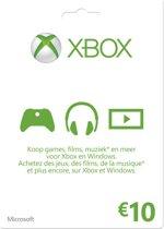 Microsoft Xbox Live 10 Euro Giftcard Kaart - Xbox 360 + Xbox One
