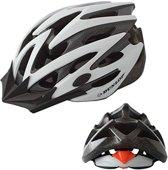 DUNLOP MTB Mountainbike fietshelm - maat L Hoofdomtrek 58-61cm  -Wit