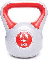 #DoYourFitness - Kettlebell - »Powermonster« - Plastic handgewicht - in meerdere gewichtsklassen verkrijgbaar - 8kg / rood