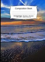 Beach Composition Notebook, Graph Paper