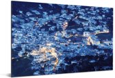 Afbeelding van Capri in de avond Aluminium 30x20 cm - klein - Foto print op Aluminium (metaal wanddecoratie)