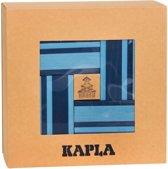 KAPLA Kleur + Voorbeeldboek - 40 Plankjes - Licht- & Donkerblauw